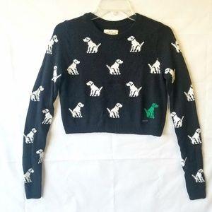 Abercrombie & Fitch Crewneck Dog Crop Sweater